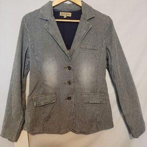 Earl Jean Railroad Stripe Cotton Jacket Blazer